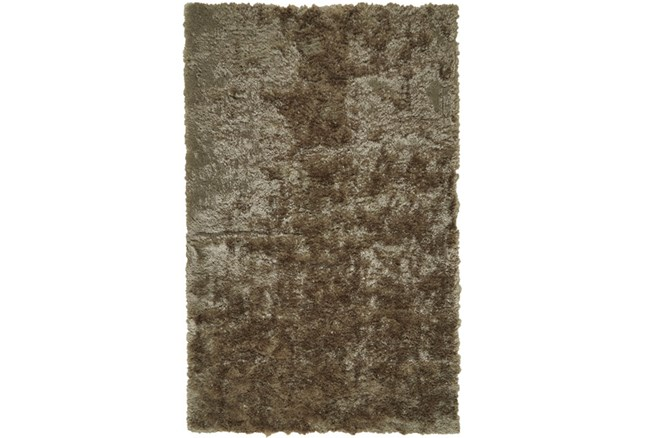 60X96 Rug-Burnout Sheen Shag Taupe - 360