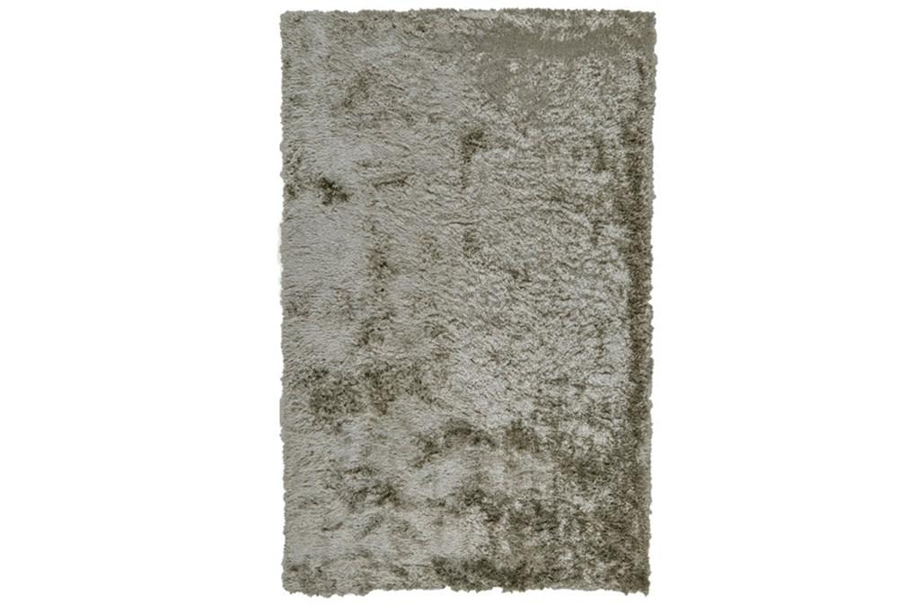 """2'5""""x6' Rug-Burnout Sheen Shag Silver"""