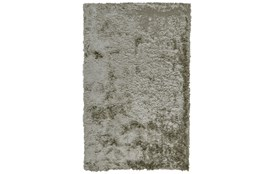 "2'5""x6' Rug-Burnout Sheen Shag Silver"