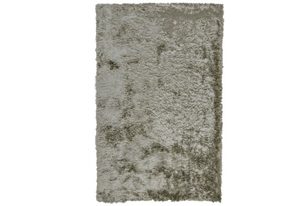 30X72 Rug-Burnout Sheen Shag Silver