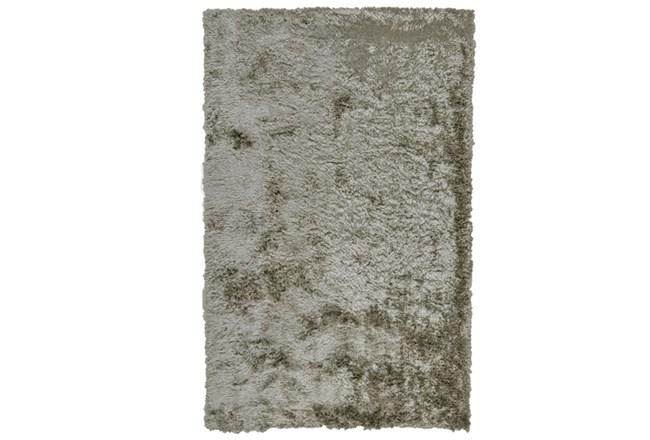 """2'5""""x6' Rug-Burnout Sheen Shag Silver - 360"""
