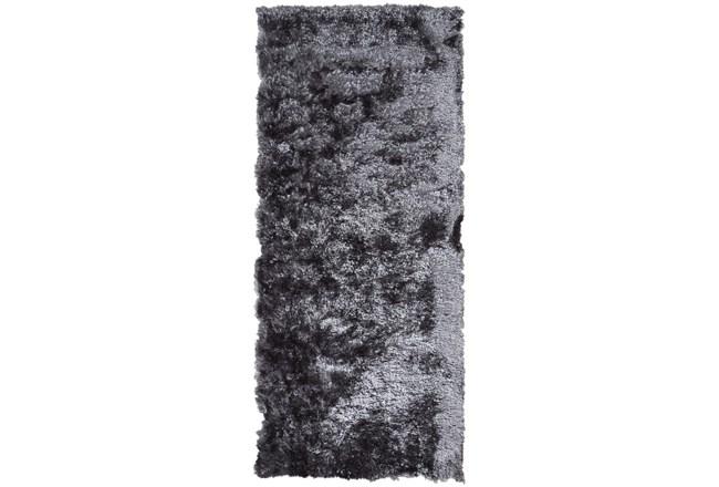 "2'5""x6' Rug-Burnout Sheen Shag Slate - 360"