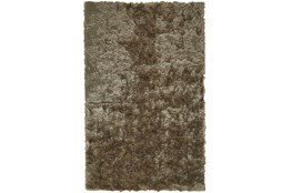 30X72 Rug-Burnout Sheen Shag Taupe