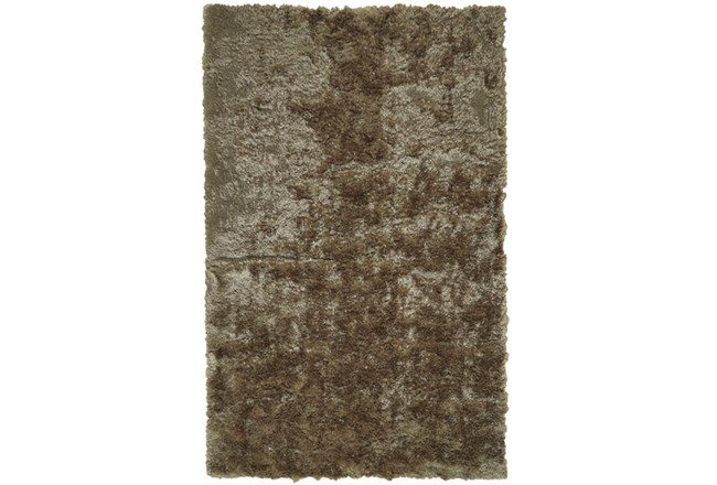 "2'5""x6' Rug-Burnout Sheen Shag Taupe - 360"