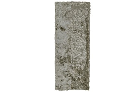 30X120 Rug-Burnout Sheen Shag Silver