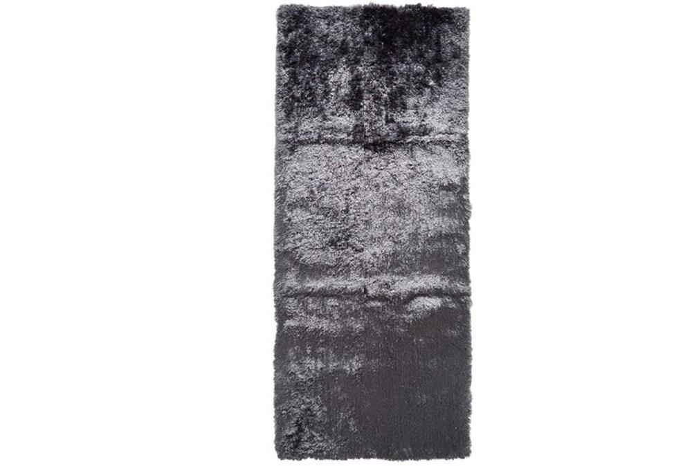 30X120 Rug-Burnout Sheen Shag Slate