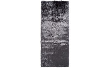 "2'5""x10' Rug-Burnout Sheen Shag Slate"