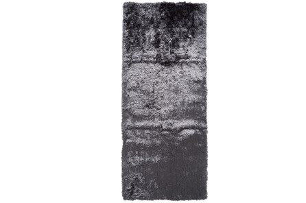30X120 Rug-Burnout Sheen Shag Slate
