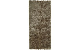 "2'5""x10' Rug-Burnout Sheen Shag Taupe"