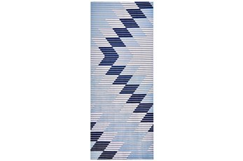 "2'8""x8' Rug-Talic Southwest Blue"