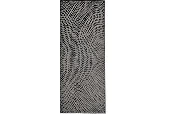 34X96 Rug-Soho Circles Charcoal