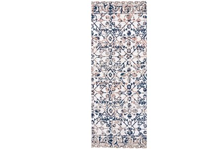 34X96 Rug-Crown Traditional Grey