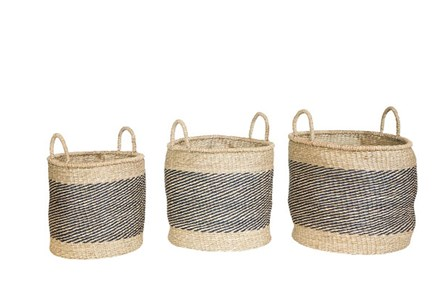 Magnolia Home Seagrass Essential 3 Piece Set Of Baskets By Joanna Gaines - Main