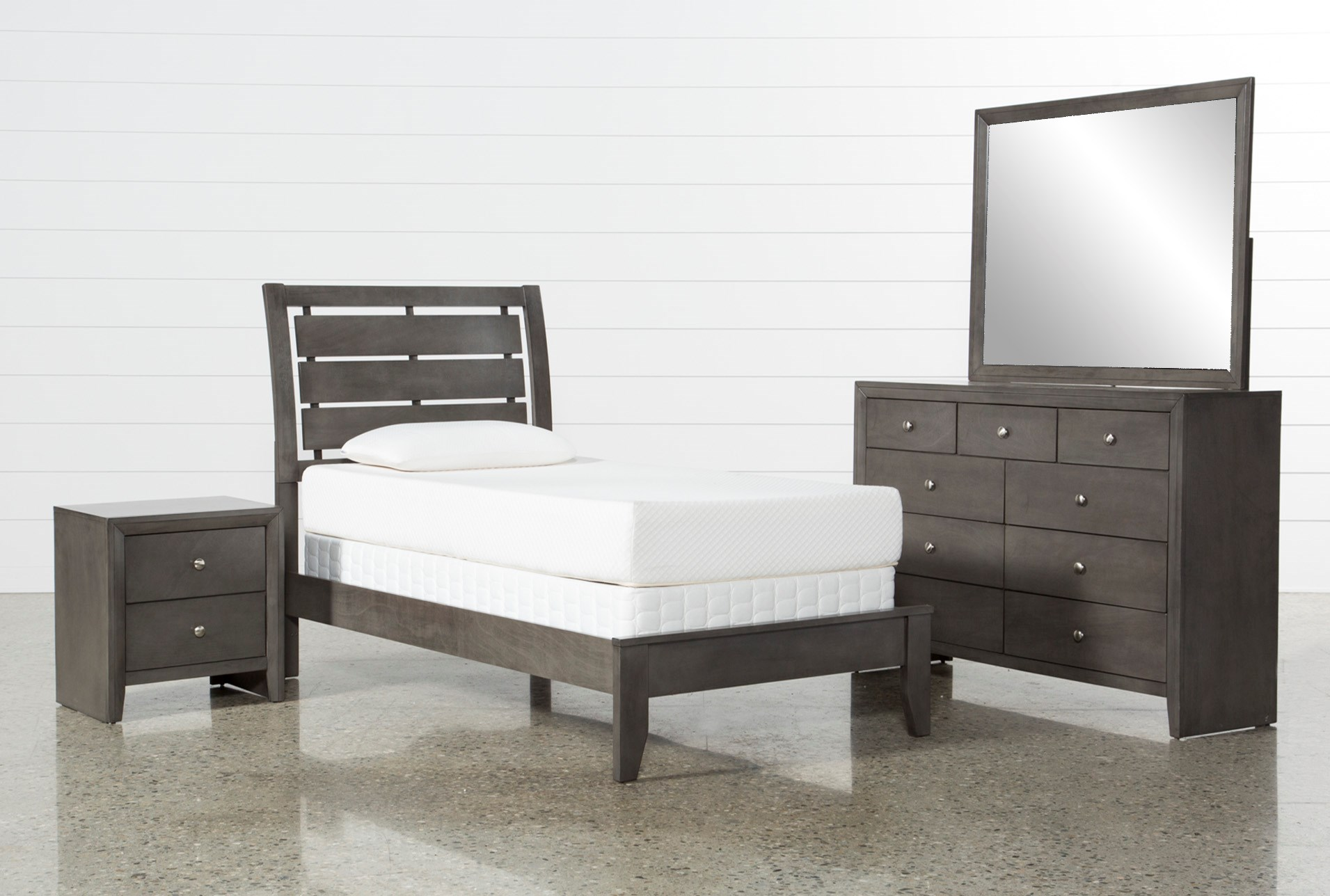 living spaces bed sets chad grey 4 bedroom set living spaces 7144
