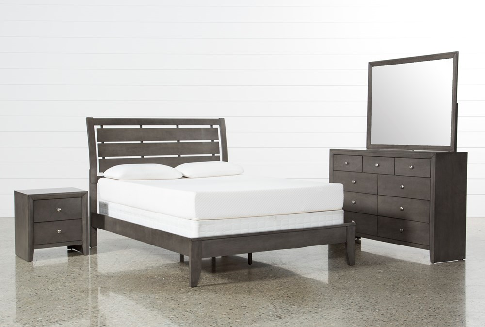 Chad Grey California King 4 Piece Bedroom Set