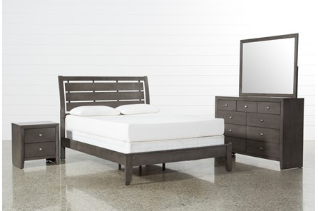 Chad Grey Cal King 4 Piece Bedroom Set