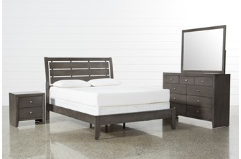 Chad Grey Eastern King 4 Piece Bedroom Set