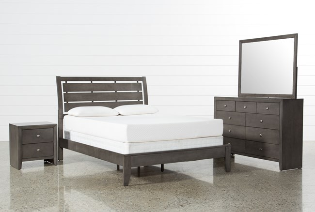 Chad Grey Eastern King 4 Piece Bedroom Set - 360