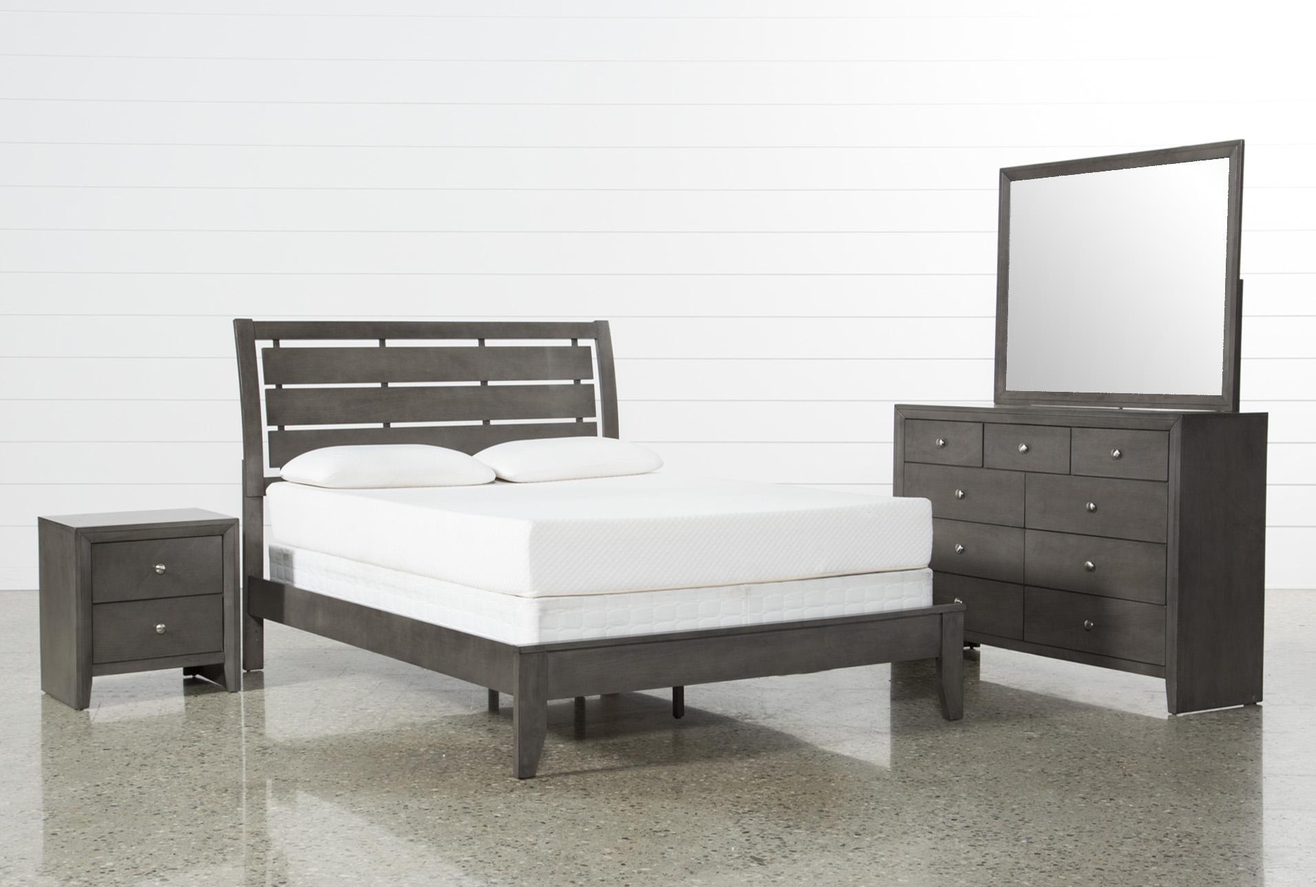 chad grey queen 4 piece bedroom set living spaces rh livingspaces com Gray Bedroom Set Full Coaster Bedroom Set Queen Gray