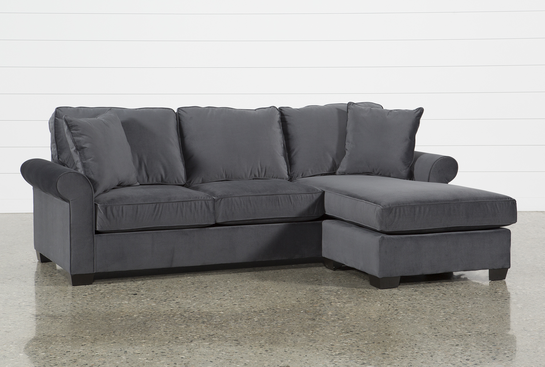 Jamison Charcoal Sofa W/Reversible Chaise