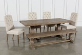 Caden 6 Piece Dining Set With Upholstered Side Chair - Top