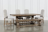 Caden 6 Piece Dining Set With Kaitlyn Side Chairs - Signature