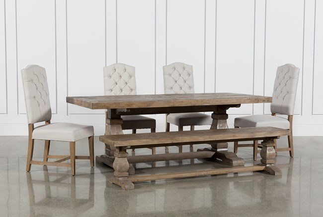 Caden 6 Piece Dining Set With Kaitlyn Side Chairs - 360