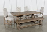 Caden 6 Piece Dining Set With Kaitlyn Side Chairs - Top