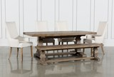 Caden 6 Piece Dining Set With Zane Arm Chairs - Signature
