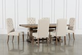 Caden 7 Piece Dining Set With Upholstered Side Chair - Signature
