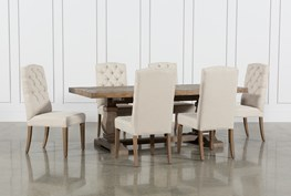 Caden 7 Piece Dining Set With Upholstered Side Chair