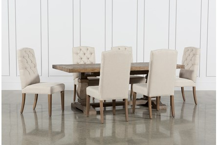 Caden 7 Piece Dining Set With Upholstered Side Chair - Main