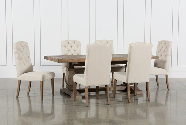 Caden 7 Piece Dining Set With Upholstered Side Chair - 360