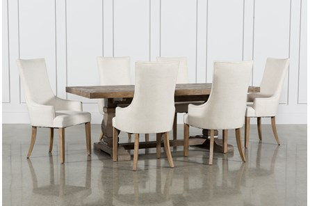 Caden 7 Piece Dining Set With Zane Arm Chairs - Main