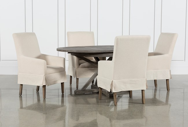 Combs 5 Piece 48 Inch Extension Dining Set With Mindy Side Chairs - 360
