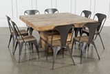Tahoe II 9 Piece 58 Inch Square Dining Set With Amos Side Chairs - Top