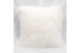 Accent Pillow-Mongolian Lambs Wool White 18X18