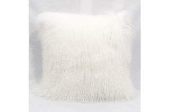 Accent Pillow-Mongolian Lambs Wool White 18X18