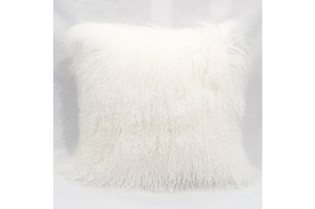 Accent Pillow-Mongolian Lambs Wool White 18X18 - Main