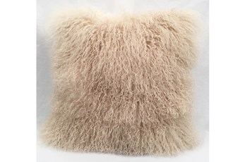 Accent Pillow-Mongolian Lambs Wool Taupe 18X18