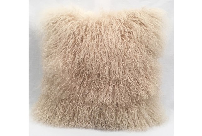 Accent Pillow-Mongolian Lambs Wool Taupe 18X18 - 360