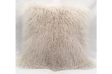 Accent Pillow-Mongolian Lambs Wool Ivory 18X18 - Main