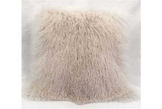 Accent Pillow-Mongolian Lambs Wool Ivory 18X18 - 360