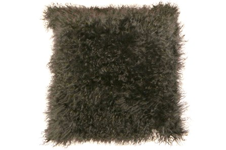 Accent Pillow-Mongolian Lambs Wool Dark Grey 18X18