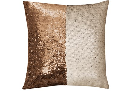 Accent Pillow-Mermaid Sequin Gold/Ivory 18X18 - Main