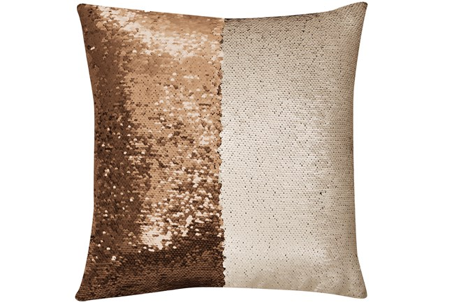 Accent Pillow-Mermaid Sequin Gold/Ivory 18X18 - 360