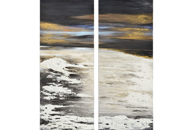 Picture-2 Piece Midnight Waves 25X60 - 360