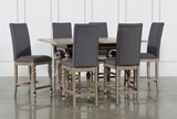 Caira 7 Piece Extension Counter Set With Upholstered Stools - Signature