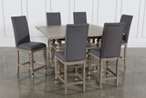 Caira 7 Piece Extension Counter Set With Upholstered Stools - Top
