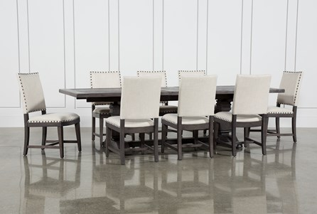 Norwood 9 Piece Rectangular Extension Dining Set With Uph Side Chairs